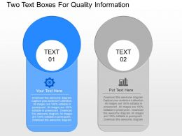 Bo Two Text Boxes For Quality Information Powerpoint Template Slide
