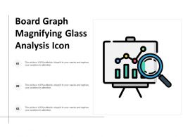 Board Graph Magnifying Glass Analysis Icon