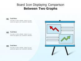 Board Icon Displaying Comparison Between Two Graphs