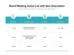Board Meeting Action List With Item Description