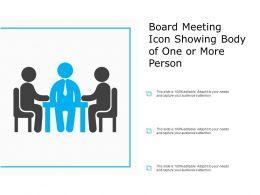 Board Meeting Icon Showing Body Of One Or More Person
