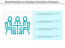 Board Meeting Icon Showing Committee Of Business Governance