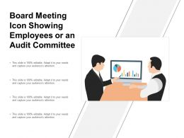 Board Meeting Icon Showing Employees Or An Audit Committee