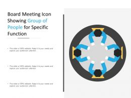 Board Meeting Icon Showing Group Of People For Specific Function