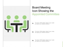 Board Meeting Icon Showing The Appointed Committee