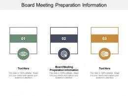 Board Meeting Preparation Information Ppt Powerpoint Presentation Infographic Template Show Cpb