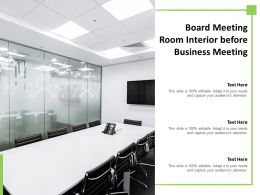 Board Meeting Room Interior Before Business Meeting