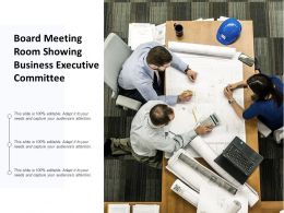 Board Meeting Room Showing Business Executive Committee