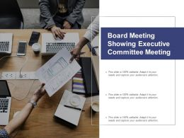 Board Meeting Showing Executive Committee Meeting