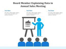 Board Member Explaining Data In Annual Sales Meeting