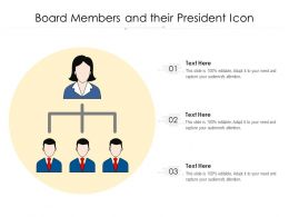 Board Members And Their President Icon