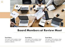 Board Members At Review Meet