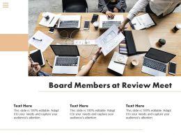 Board Members At Review Meet