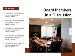 Board Members In A Discussion