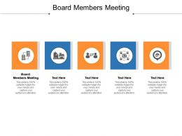 Board Members Meeting Ppt Powerpoint Presentation Inspiration Objects Cpb