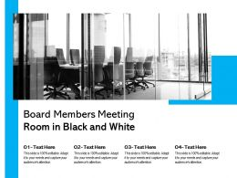 Board Members Meeting Room In Black And White