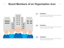 Board Members Of An Organization Icon