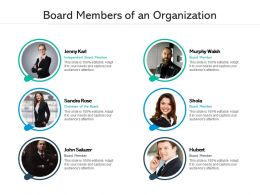 Board Members Of An Organization