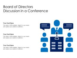 Board Of Directors Discussion In A Conference