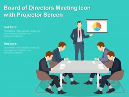 Board Of Directors Meeting Icon With Projector Screen