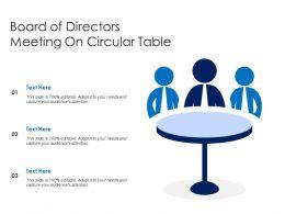 Board Of Directors Meeting On Circular Table