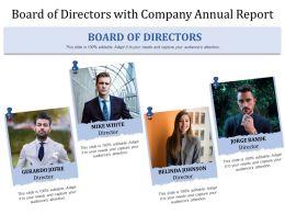 Board Of Directors With Company Annual Report