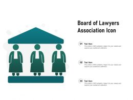 Board Of Lawyers Association Icon