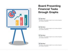 Board Presenting Financial Tasks Through Graphs