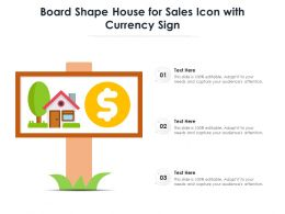 Board Shape House For Sales Icon With Currency Sign