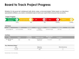 Board To Track Project Progress Ppt Powerpoint Presentation Show