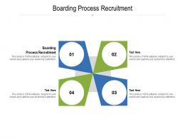 Boarding Process Recruitment Ppt Powerpoint Presentation Model Vector Cpb