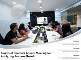 Boards Of Directors Annual Meeting For Analyzing Business Growth
