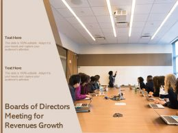 Boards Of Directors Meeting For Revenues Growth