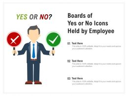 Boards Of Yes Or No Icons Held By Employee
