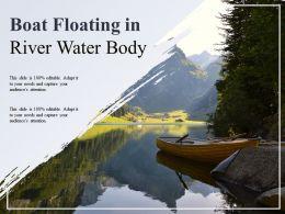 Boat Floating In River Water Body