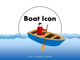 Boat Icon Propulsion Location Flag Rafting Engine