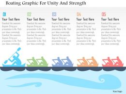 Boating Graphic For Unity And Strength Flat Powerpoint Design