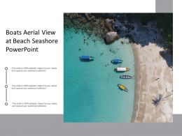 Boats Aerial View At Beach Seashore Powerpoint