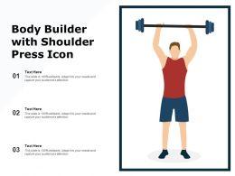 Body Builder With Shoulder Press Icon