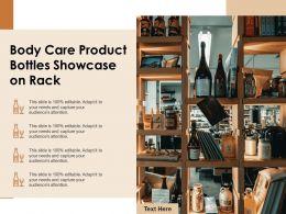 Body Care Product Bottles Showcase On Rack