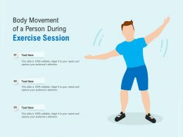 Body Movement Of A Person During Exercise Session