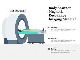 Body Scanner Magnetic Resonance Imaging Machine
