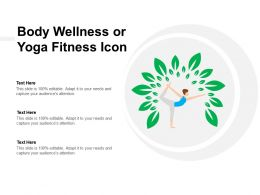 Body Wellness Or Yoga Fitness Icon