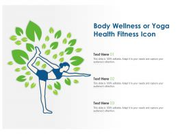Body Wellness Or Yoga Health Fitness Icon