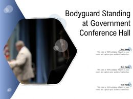 Bodyguard Standing At Government Conference Hall