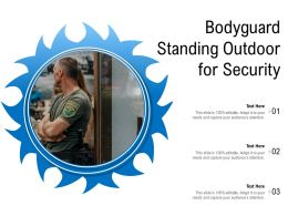 Bodyguard Standing Outdoor For Security