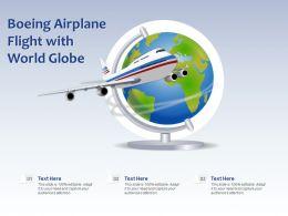 Boeing Airplane Flight With World Globe