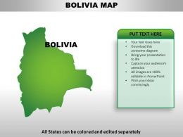 Bolivia Country Powerpoint Maps