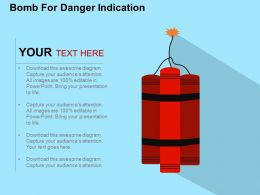Bomb For Danger Indication Flat Powerpoint Design