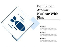Bomb Icon Atomic Nuclear With Fins